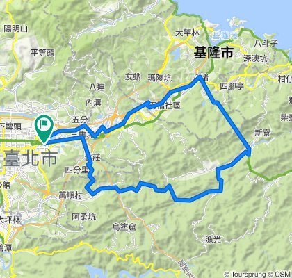 2020.02.28 基隆河+七汐自行車道+十分+石碇+松山車站