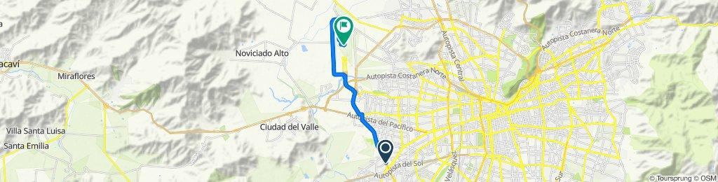Avenida Américo Vespucio, Maipú to César Lavín Toro 2198, Pudahuel