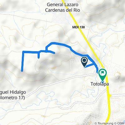 Ruta tranquila en Totolapa