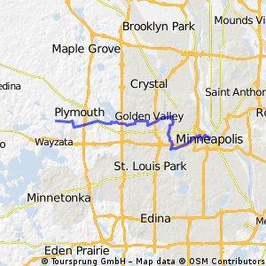 B2B 55446 > 55415 via Luce Line, Golden Valley Rd, Theo Wirth, Cedar Lake