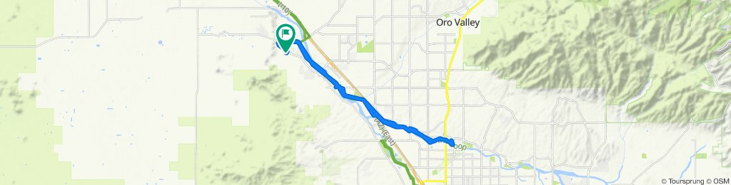 Sporty route in Tucson