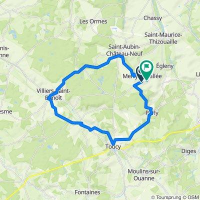 4 Rue de la Tournelle, Merry-la-Vallée to 1 Le Chêne, Merry-la-Vallée