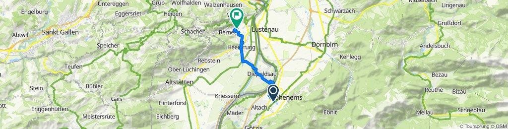 Langsame Fahrt in Berneck