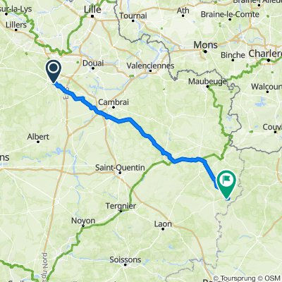 Arras to Rozoy