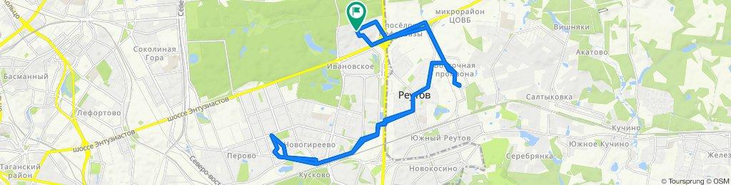 Зимние велоездки теплые но подмерзлые облачно-сухие Реутов- Перово (с возвратом) 13 02 2020