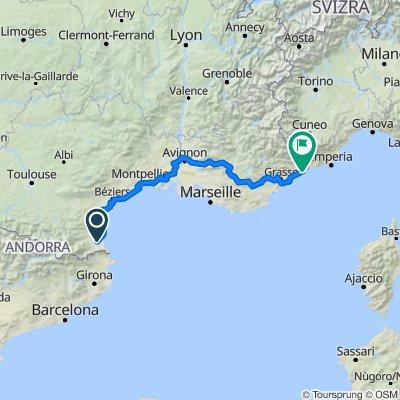 Bages to Monaco via Avignon