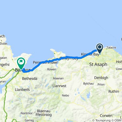, Rhyl to Bangor