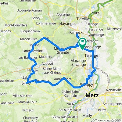 2 Impasse du Maréchal Lafayette, Amnéville to 2 Impasse du Maréchal Lafayette, Amnéville