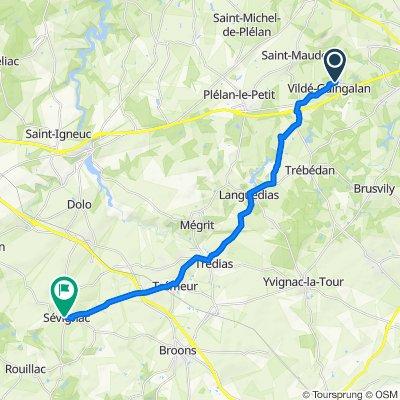 1 Résidence des Hortensias, Vildé-Guingalan to D16, Sévignac