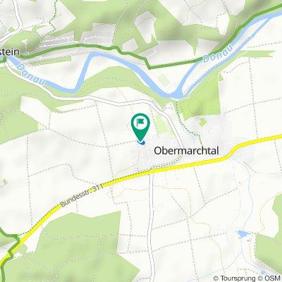 Gerade Fahrt in Obermarchtal