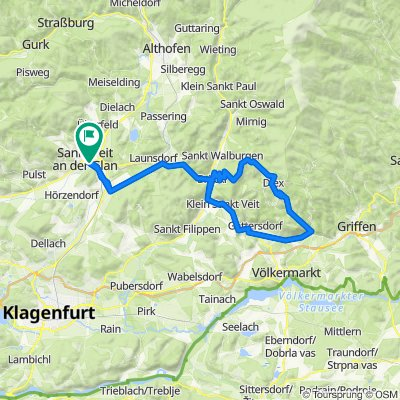RR-Berg: St.Veit-KleinSt.Veit-Haimburg-Diex-Brückl-Diex-Brückl-St.Veit