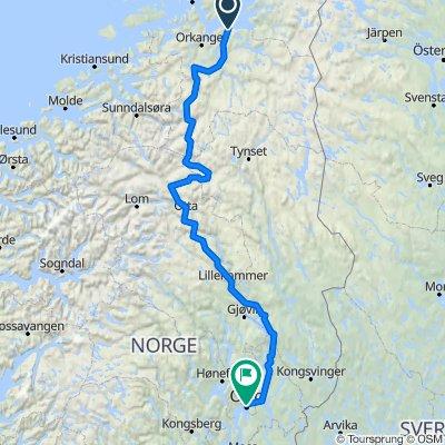 Trondheim-Oslo BikeMap