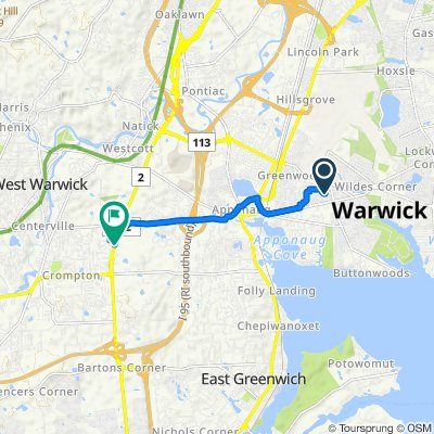Moderate route in Warwick