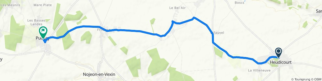 Grande Rue, Heudicourt to 2 Rue de l'Église, Puchay