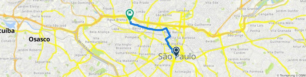 Rota relaxada em São Paulo