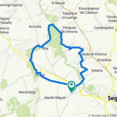 Ruta relajada en Valverde del Majano