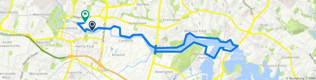 1 Morton Street, Parramatta to 34–44 Thomas Street, Parramatta