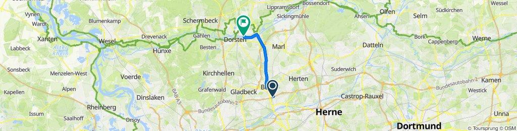 , Gelsenkirchen to Finkenweg 19, Dorsten