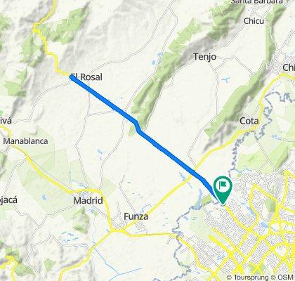 Ruta Bogotá - Rosal - Bogotá