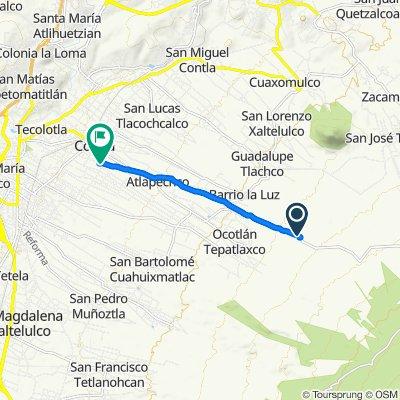 Carretera Contla-Cuauhtenco, Contla to Calle José María Morelos 124, Contla