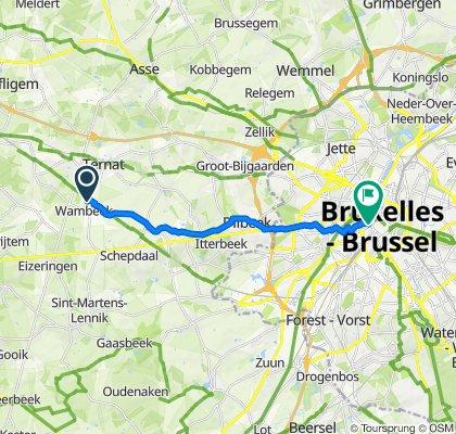 Weverstraat 42, Ternat to Zespenningenstraat 62, Brussel