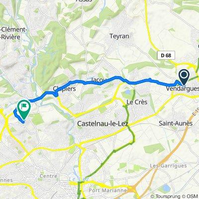 4 Rue des Bergeries, Vendargues to 371–427 Avenue du Pic Saint-Loup, Montpellier