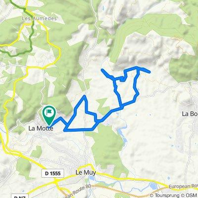 Route stable en Les Arcs