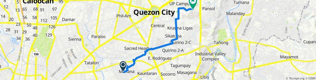 Slow ride in Quezon City