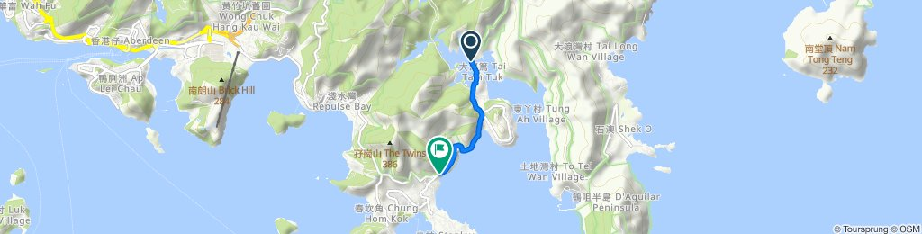 Sporty route in Hong Kong