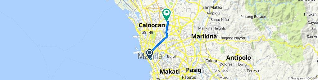 Maria Orosa Street, Manila to 92 Road 18 Extension, Quezon City