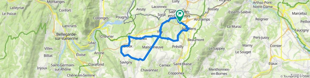 Slow ride in Dingy-en-Vuache