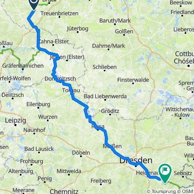 Bad Belzeig to (almost) Cz border (Konigstien/Sachs, Schw.)