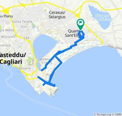 Via Costantino Nigra 96, Quartu Sant'Elena to Via Costantino Nigra 98, Quartu Sant'Elena