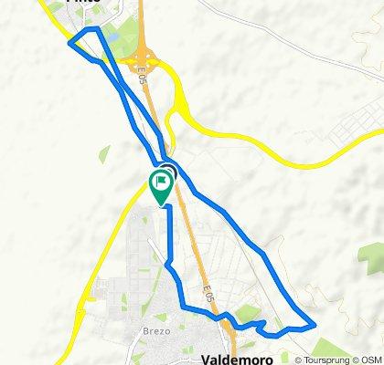Ruta constante en Valdemoro