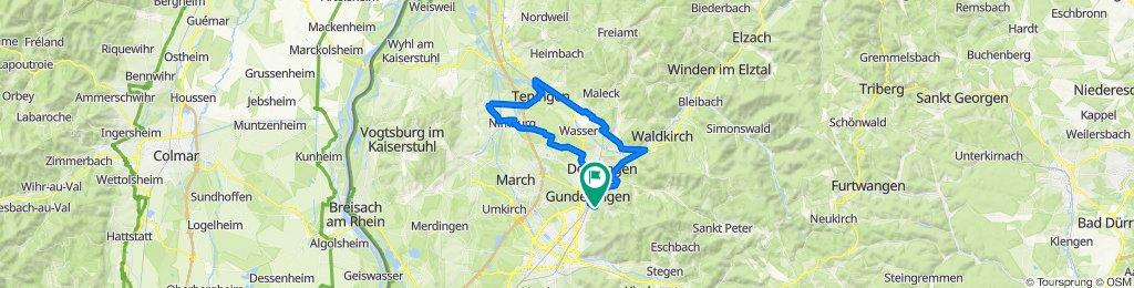 Flaches Land nördlich von Freiburg