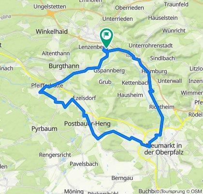 Gerade Fahrt in Altdorf bei Nürnberg