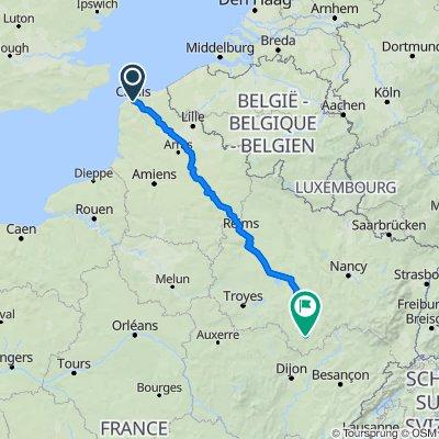 1 Calais to Langres via Lens, St Quentin, Reims, Chalons & Chaumont