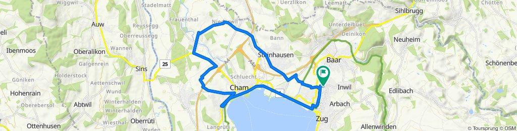 Zugerstrasse 76B, Baar to Eschenring 12, Zug