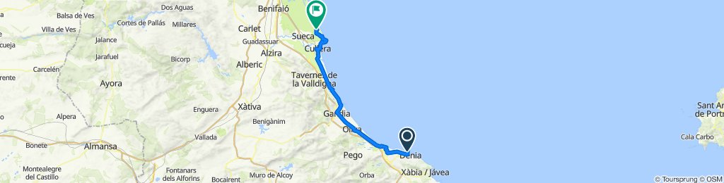 Denia to Mareny de Vilches