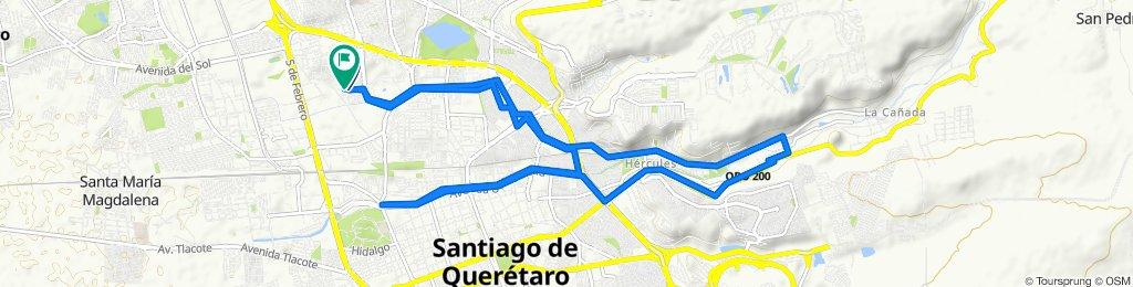 High-speed route in Santiago de Querétaro