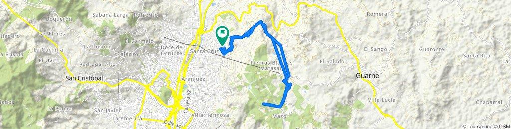 Ruta constante en Medellín