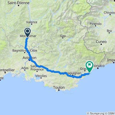 3 Montelimar to Antibes via Orange, Avignon, Peyrolles en Provence, Puget sur Argens, Mandelieu la Napoule & Cannes