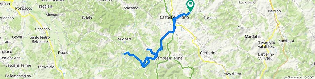 Renai - Montaione - San Vivaldo - Castelfalfi - Renai