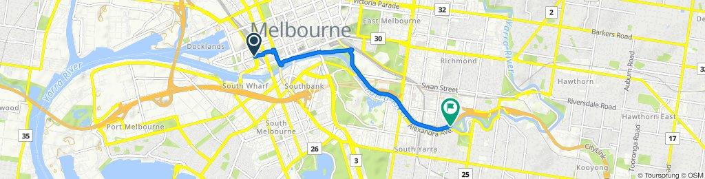 Wurundjeri Way, Docklands to Main Yarra Trail, Richmond