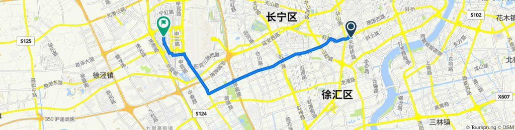 Moderate route in Shanghai