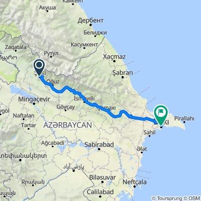 Sheki to Baku