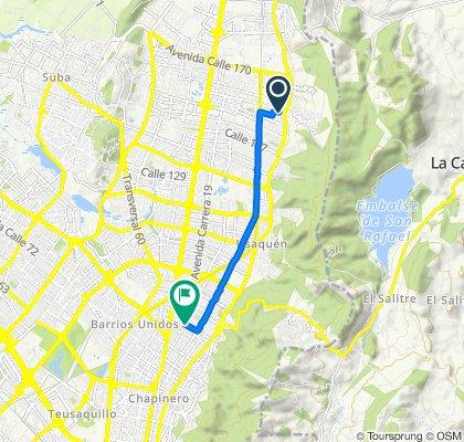 Ruta tranquila en Bogotá