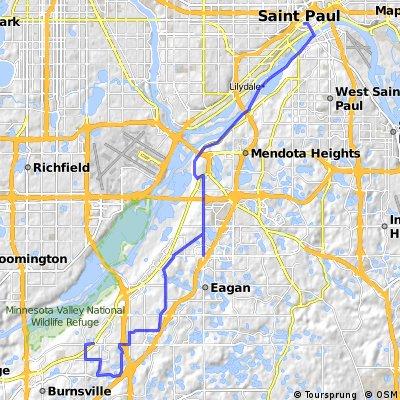 B2B00628 55337>55102 via Slater Rd, High Line Trl, Blackhawk Rd, Big Rivers Trl