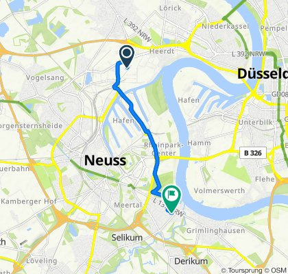 Heerdter Landstraße 239, Düsseldorf to Magnolienweg 3, Neuss