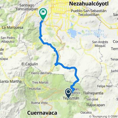 Carretera Cuernavaca-Cuautla, Tepoztlán to Avenida San Bernabé 632, Ciudad de México